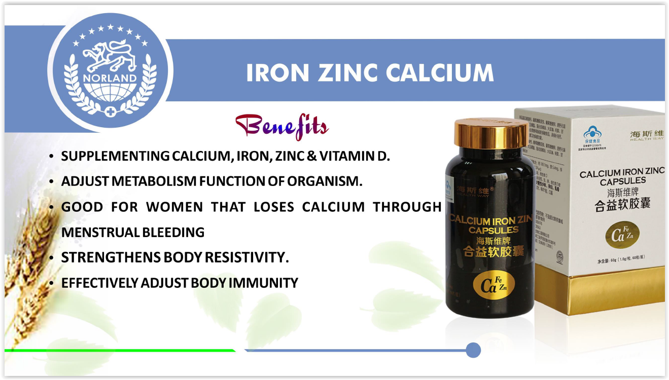 Norland Shopzone - Buy Norland Products - Calcium Iron and Zinc Capsules