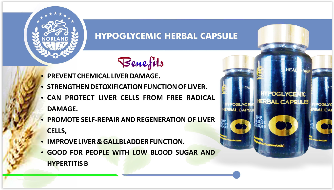 Norland Shopzone - Buy Norland Products - Hypoglycemic Herbal Capsules